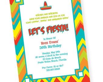Fiesta Cinco de Mayo Custom Printable Invitation