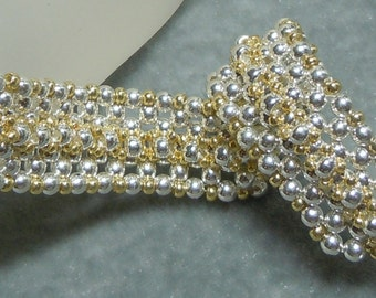 PATTERN White Hot Heat Right Angle Weave RAW Bracelet
