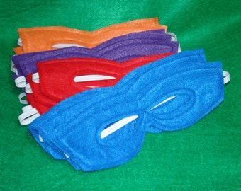 20 Super Childrens felt mask   Cartoon Ninja Turtle colors