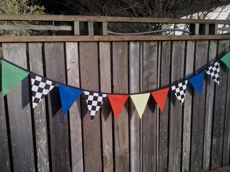 Bunting Flags Cars Theme Boys Birthday Decoration Race Car