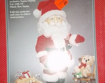 "SANTA craft Fibre sewing pattern Craft Santa Outfits 14"" Santa , easy instructions, booklet, instructions, patterns"