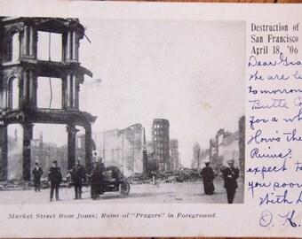 1906 San Francisco Earthquake and Fire Original Postcards