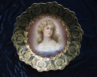 Royal Vienna Gracioza Portrait Plate Lovely Blonde Woman Exc Cond Hand Painted