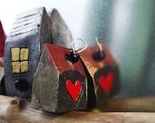 Little House -artisan jewelry - OOAK Pendant - Modelling Clay Art Sculpture - Wearable Art