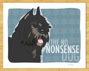 Bouvier des Flandres Art Print - The No Nonsense Dog - Bouvier Gifts Dog Breed Art