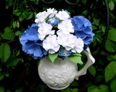 Soft Blue and White - Paper Bouquet - Customize your Style and Colors - Made To Order