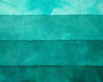 Gemstone Emerald - hand dyed rug hooking wool fabric -  (1) Fat Quarter (4) values available
