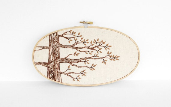 Autumn hand embroidery