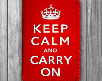 Keep Calm and Carry On Credit Card Holder Business Card Holder Wallet