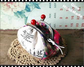 Rabbit  Metal frame purse/coin purse / Coin Wallet /Pouch / Kiss lock frame bag-GinaHandMade