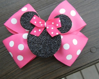 Pink Minnie Mouse Hair Bow Hairbow