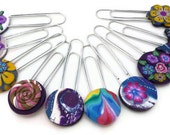 10 Polymer Clay Paperclip Bookmarks