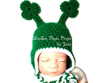 St Patrick's day photography prop newborn shamrock hat