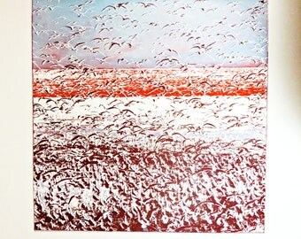 Shorebirds-Etching(Free Shipping)