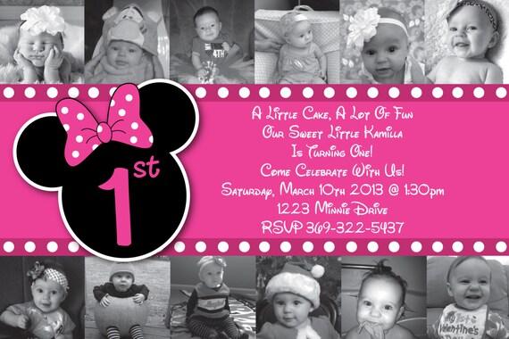 Custom Minnie Mouse invitación o tarjeta por HeathersCreations11