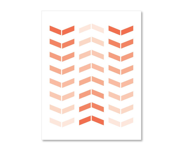 Chevron Wall Art Print Simple Modern Arrows Home by AldariArt