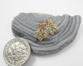 14k Gold earrings, Star of David earrings Pair (Two) Stud  Earrings - ElenadE