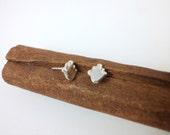 Sterling Silver Tiny  Hamsa  Stud  Earrings - ElenadE