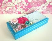 Jewelry Box in Pink Turquoise Fushcia White: Mimi