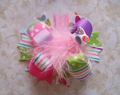 Hair Bow---Funky Fun Over the Top Bow---Easter--All the Themes of Easter