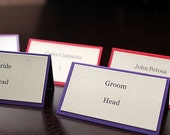 Classic Colorful Place Cards/Name cards