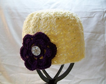 Womens Hat With Interchangeable Flowers