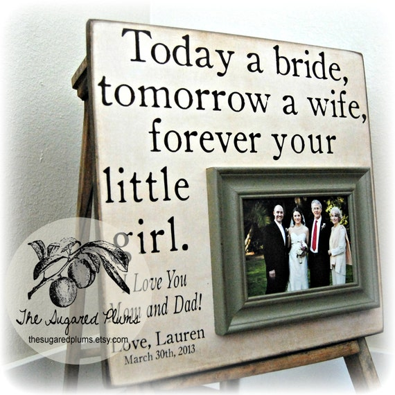 Wedding Gift For Grooms Father : Bride Gift, Father of Bride, Parents Thank You, Parents Wedding Gift ...