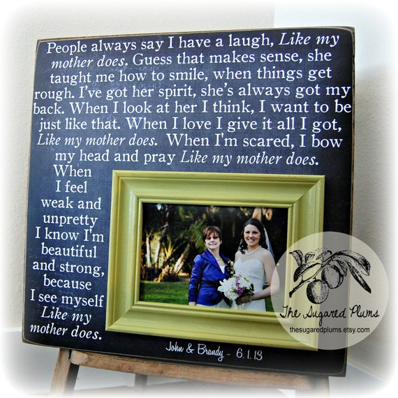 Gift From Bride To Mother: Mother Of The Bride Gift Personalized Picture Frame Wedding
