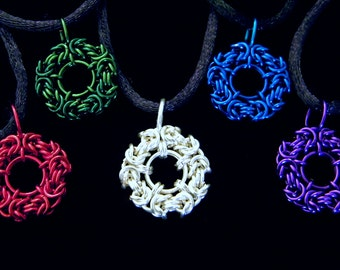 Byzantine Coin Chainmaille Pendants