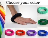 Bracelet CARTA made of paper circles- paper jewelry