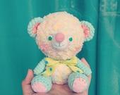 Crocheted Amigurumi Pastel Bear - (Finished Product)