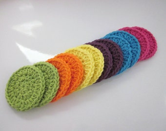 Cotton Face Scrubbies, Set of 12,