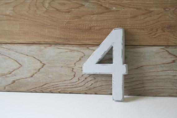 Vintage Wooden Number 4