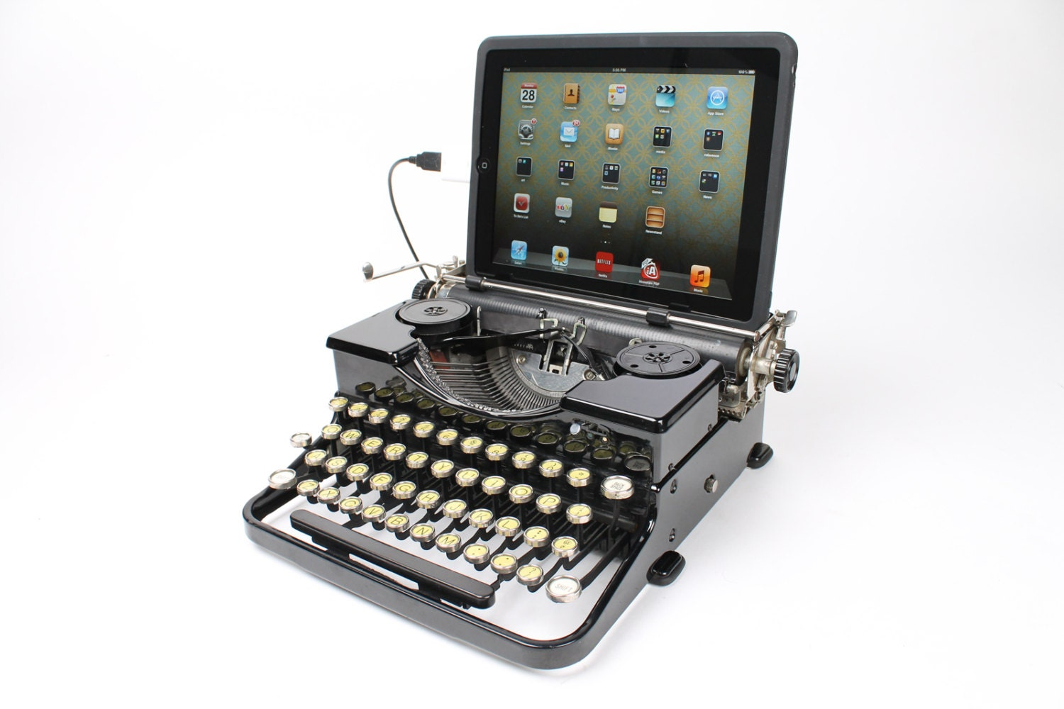 USB Typewriter Computer Keyboard Royal Portable from 1933 | 1500 x 1000 jpeg 190kB