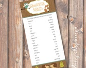 Woodland Animals Printable Baby Shower Game - Baby Animal Matching Game - INSTANT DOWLOAD