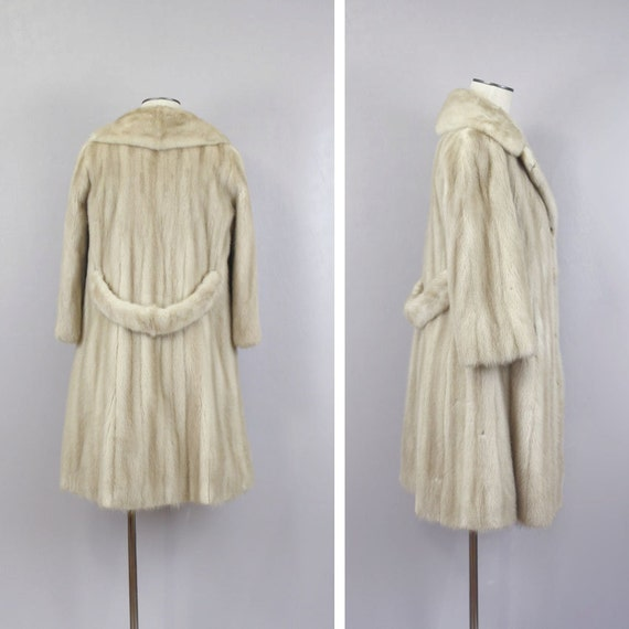 Vintage Bridal Mink Fur Coat / 1960s by LivingThreadsVintage