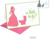 Funny Will You Be My Bridesmaid Card - Maid of Honor Card - Matron of Honor Card - Personal Attendant Card -A Little Help