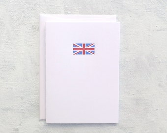 Letterpress Note Card - Union Jack