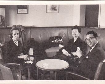 Vintage Photo - At the Table - Vintage Photograph, Vernacular, Found Photos  (VV)
