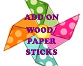 Add Wood Sticks or White Paper Sticks To My Order