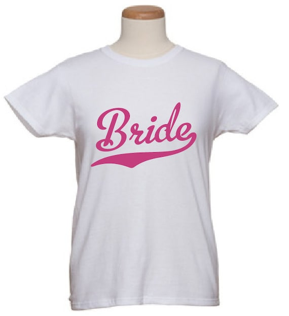 Bridal T Shirts Team Bride Baseball By Wicksncandlesticks