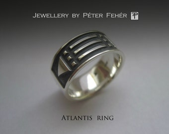 Sterling Silver Atlantis Ring, Silver Jewelry