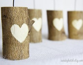 Reserved for Karen - Wooden Table Number Holders - Set of 8 - Wedding Decoration - Place Card Holders - Buffet Food Label Holders
