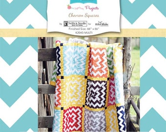 Chevron Squares Quilt Kit by Nellie's Needle for Riley Blake, complete kit, SALE PRICE