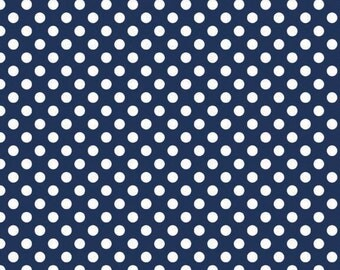 Dots Navy Small by RBD Designers for Riley Blake, 1/2 yard