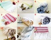 Gift Set,13 Towels NATURAL Cotton Eco Friendly PESHTEMAL Hand Woven Turkish Cotton Bath Beach Spa Yoga Pool Towel