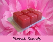 6 Hand Poured Floral Scented Candle Tarts Wax Melts in Clamshell