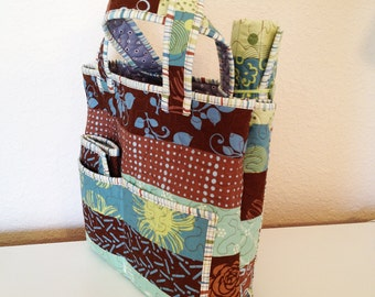 Quilted Knit Caddy & Tote Set - pattern no. 522