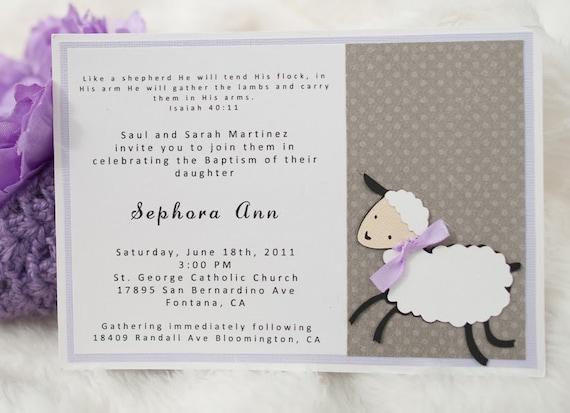 lamb baby shower invitation by embellishedpaper on etsy