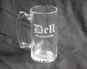 7 Custom Etched Groomsmen Beer Mugs